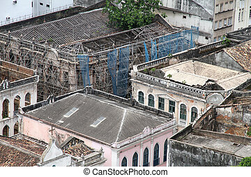 Rundown Buildings in Salvador - Rundown buildings in dowtown...