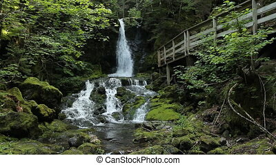 Dickson Falls. Two shots. - Dickson Falls in Fundy National...