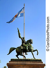 Statue of Manuel Belgrano - The Statue of Manuel Belgrano on...