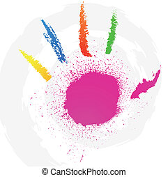 Abstract grunge hand style. Vector