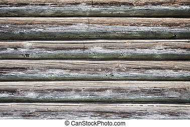 wooden wall - Close-up view of old wooden wall