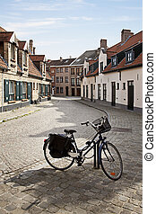 Streets of Bruges, Belgium - Cityscape of Bruges streets...