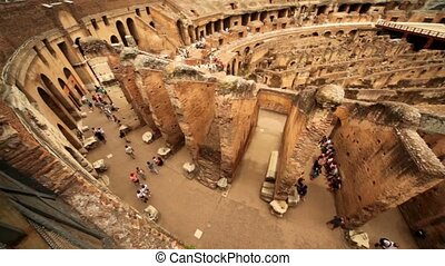 Walkway around Colosseum arena and walls divide it, shown...