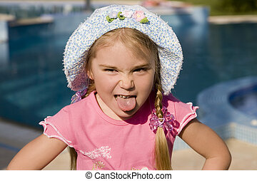 Portrait of a little girl