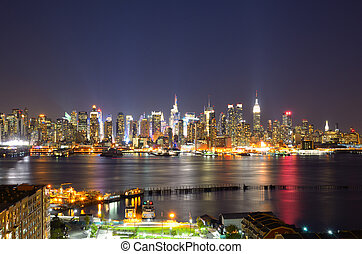 Lower Manhattan Skyline - New York City skyline viewed from...