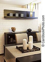 dining room - Interior shot of a modern dining room