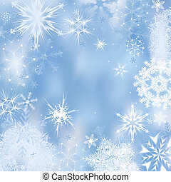 Winter background - Dreamlike winter background. Vector...