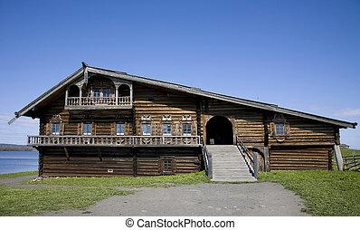 Wooden town 'Kizhi', Russia - Ancient wooden town 'Kizhi' in...