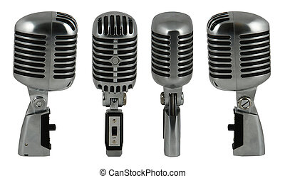 microphone - Professional old fashioned microphone over...