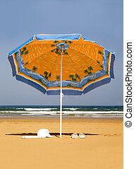 parasol - Lonely parasol on the beach