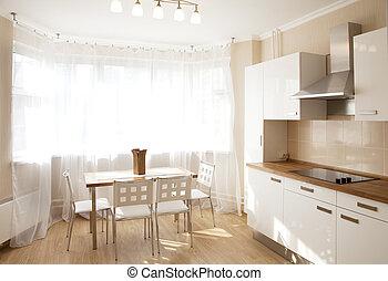 dining room - Interior of a dining room in sunlight