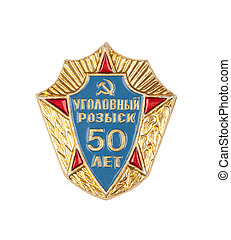 "badge - ""Criminal Investigation Department 50 years"" badge"