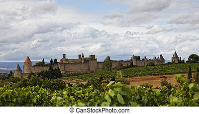 Carcassonne fortified town