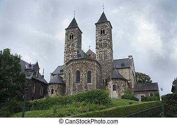 Old church in Limburg, province of Netherlands