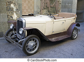 Old fashioned car