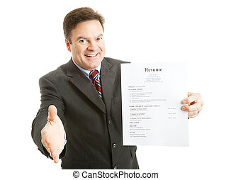 Confident Job Applicant - Confident businessman, ready with...