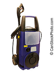 portable pressure washer under the white background