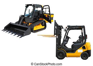 mini-tractor, cargador