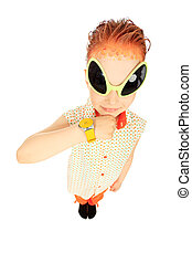 redhaired - Portrait of a funny boy in futuristic...