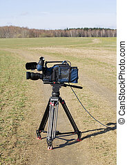 video camera - Professional video camera in the field