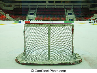 hockey goal - The empty ice hockey goal...
