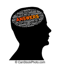 Silhouette head - Best Choice - Silhouette head with answers...