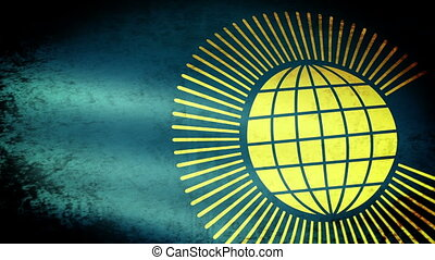Commonwealth of Nations Flag Waving