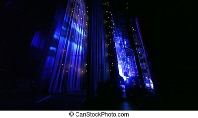Some layers of curtains behind offstage - Some layers of...