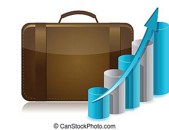 business briefcase illustration