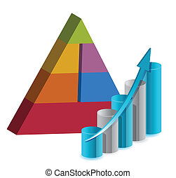 business pyramid chart illustration design