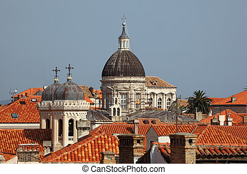 View of the historic town Dubrovnik in Croatia