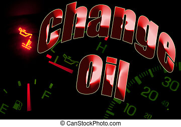 Change oil service engine light