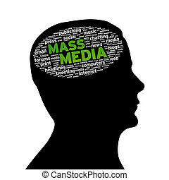 Silhouette head - Mass Media - Silhouette head with the...