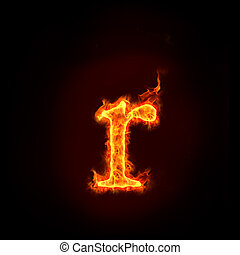 fire alphabets, small letter r - fire alphabets in flame,...