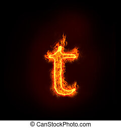 fire alphabets, small letter t - fire alphabets in flame,...