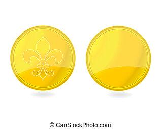 magic gold tag emblems set