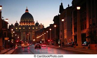 Via della Conciliazione at street leading to Sant Peters...