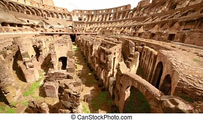 Colosseum arena area and the tunnels under it, shown closer...