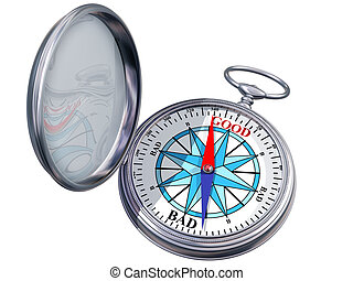 Isolated moral compass - Illustration of a moral compass...