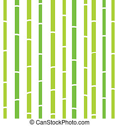 Bamboo seamless natural retro pattern or texture - green and...