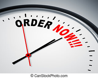 order now - An image of a nice clock with order now