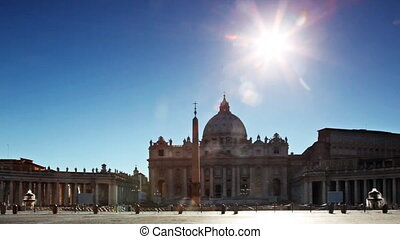 Area in front of St. Peters Basilica on Vatican - area in...