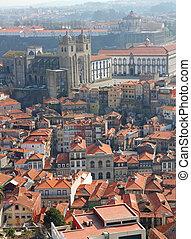 Portugal. Porto. Aerial view over the city Portugal. Porto....