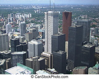 Toronto skyline  - View from Toronto CN Tower