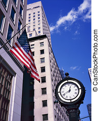 Classic style clock on Fifth Ave. in Manhattan.