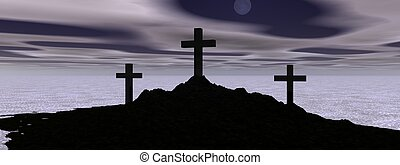 landscape and cross