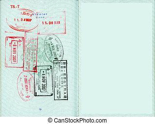 Stamped visa.