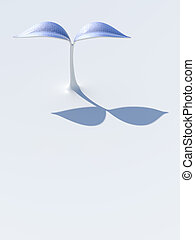Solar plant - 3D rendering of a plant which has solar panels...