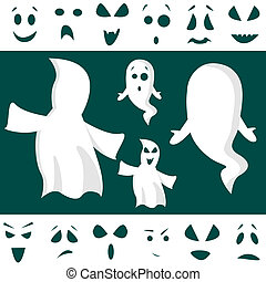 ghost kit with facial expressions