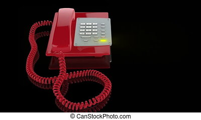 Emergency Red Phone ringing, light